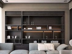 New Living Room Shelves Display Bookcases Ideas Living Room Bookcase, Living Room Interior, Home Interior, Modern Interior, Interior Architecture, Interior Design, Shelving Design, Shelf Design, Cabinet Design