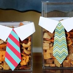 How to make a Father's Day tie box. Cute idea for gifts or party snacks.