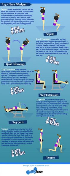 Leg and Bum Workout - Get toned legs and an amazing ass! Check this workout plan!
