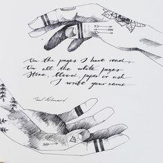 Paul Éluard brings all this on my sketchbook sheets  #sketchbook #art #artist #handdrawing #sketch #ink #tattoo #typography #lettering #poem #radioncicic #illustration #poster #shadow #stateofmind #designer #graphicdesign #localsmd #vsco #vscocam #vscoart #стихи #леттеринг #тушь #типографика #руки