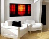 Warm Tones, 20x30 Photography, Free US Shipping, Photo, Fine Art, Orange, Red, Hot, Warm, Windows