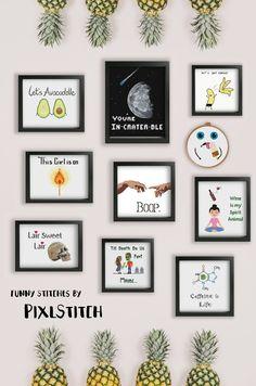 Funny Cross stitch puns and sass cross stitch patterns