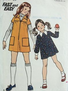 "Butterick 3494; ca. 1974; Girls' Dress Add a photo to the gallery by clicking the ""modify"" button below."