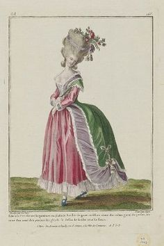 A Most Beguiling Accomplishment: The Robe à la Circassienne 18th Century Dress, 18th Century Costume, 18th Century Clothing, 18th Century Fashion, Rococo Fashion, Vintage Fashion, Rose Bertin, Costume Français, Theatrical Scenery