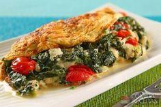 Receita de Omelete simples com espinafre em receitas de ovos, veja essa e outras receitas aqui!