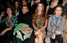 (L-R) Valeria Golino, Stromae, Bianca Brandolini d' Adda and Olivia Palermo attend the Valentino show as part of the Paris Fashion Week Fall/Winter 2015