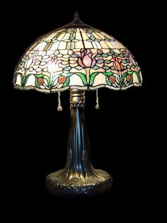 Tiffany style Stained glass Table Lamp by Stainedglassworks1, $219.00