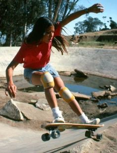 """Kim Cespedes, the """"First Lady of Northern California"""" skateboarding back in the 70s."""