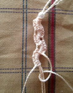 macrame two sided spiral braid, plus many other macrame knots