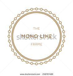 Geometric frame in trendy mono line style. For labels, Trade Marks and Invitation. - stock vector