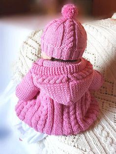 Baby sweater hat socks set Hand Knit Merino wool Baby by Pilland