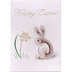 Stitching Cards Easter Bunny
