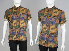 Vintage 80s 90s Tori Richard Hawaiian Shirt Mens by ZeusVintage