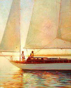 A dreamy sailboat ride