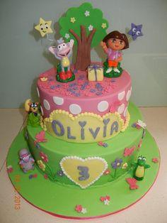 Dora Cake - by BlissfulCakeCreations @ CakesDecor.com - cake decorating website