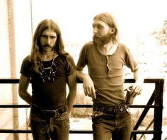 Thinking of our two Brothers, Raymond Berry Oakley III and Howard Duane Allman. Photo by Carter Tomassi. Atlanta, GA, July 1971.