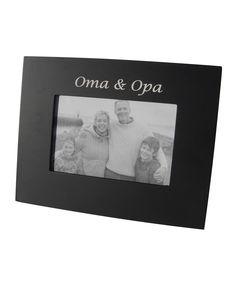 Black 'Oma  Opa' Frame