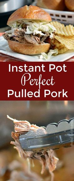 Instant Pot Pulled Pork Instant Pot Pulled Pork - Easy pork shoulder butt roast made in the pressure cooker in only 2 hours! Meat is fork tender and perfect and can be used for sandwiches, carnitas, nachos, burritos or alone. from Meatloaf and Melodrama Best Instant Pot Recipe, Instant Pot Dinner Recipes, Easy Dinner Recipes, Easy Meals, Dinner Ideas, Pork Roast Recipes, Pulled Pork Recipes, Shredded Pork Recipes, Chicken Recipes