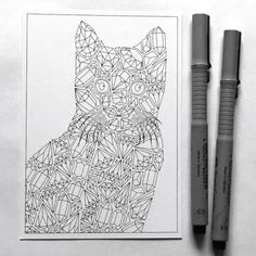 How lovely is this gemstones cat coloring postcard! Isn't it a great opportunity to send your beloved ones a unique diy card this year? Color in the cat in their favorite colors and they will love it! - also, who doesn't love getting real mail these days? ;)  This cat coloring page is perfect for diamond coloring practice - so many details!