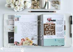 Brand new 2016 Heidi Swapp Memory Planner | @jamiepate for @heidiswapp Life Planner, Happy Planner, 2016 Planner, Cool Office Supplies, Planner Supplies, Planner Ideas, Heidi Swapp, Project Planner, Day Planners