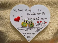 Shabby chic Personalised Wooden Heart Plaque handmade Gift for Mum Friend   eBay                                                                                                                                                                                 More