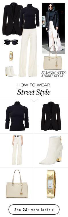 """Fashion Week Street Style"" by dezaval on Polyvore featuring Alexander McQueen, KaufmanFranco, Michael Kors, MICHAEL Michael Kors, Giuseppe Zanotti, Kate Spade, women's clothing, women, female and woman"