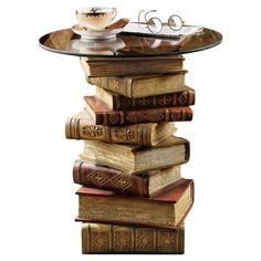 Found it at Wayfair - Power of Books Sculptural End Table in Brown