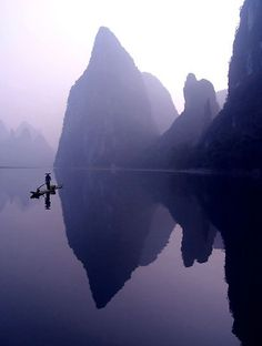 It is really quite a magical place. Li river, so peaceful and serene.  Plus the picture is PURPLE.