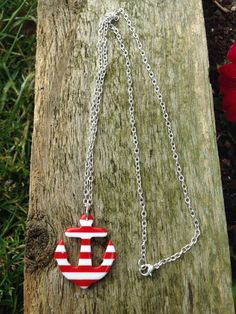Anchor necklace nautical necklace nautucal by BrowniesCRAFTBOX