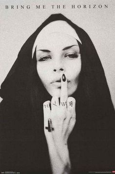 Bring Me the Horizon Vulgar Nun Band Art Music Poster