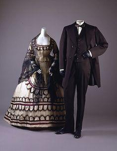 Men and Women's Clothing circa 1860s