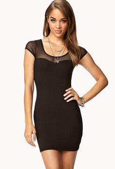 Sweetheart Mesh Dress | FOREVER21 - 2000051733