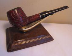 Vintage Dr. Grabow Crown Duke Straight Rustic Billiard Estate Briar Tobacco Pipe