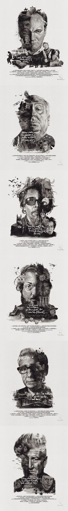 Magnifique illustrations - Movie Director Portraits by Stellavie & Julian Rentzsch Chef D Oeuvre, Arte Pop, Portrait Illustration, Cultura Pop, Grafik Design, Illustrations And Posters, Graphic Design Inspiration, Storyboard, Art Direction