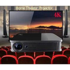 Home Theater Setup with Home Theater Seating Home Theater Furniture, Home Theater Setup, Best Home Theater, Home Theater Speakers, Home Theater Seating, Home Theater Design, Movie Theater, Portable Projector Screen, Home Cinema Projector