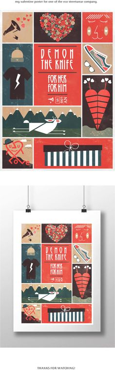 valentines poster by Maciej Chmiel, via Behance