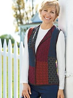 Women's Aurora Patchwork Sweater Vest | Norm Thompson