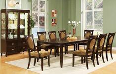 formal dining room set in traditional design