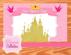 Princess Party Printables   Princess Photo by KROWNKREATIONS Cinderella Birthday, Princess Birthday, Princess Wedding, Princess Belle, Bridal Shower Backdrop, Beauty And The Beast Party, Princess Photo, Princess Collection, Party Printables