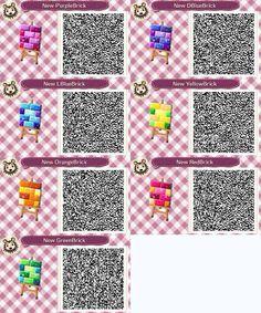 Animal Crossing: New Leaf: QR Codes- Designs My Little Pony Friendship Is Magic Rainbow Dash, Animal Crossing Qr Codes Clothes, Animal Crossing Game, Animal Games, My Animal, Twilight Sparkle, Fluttershy, Acnl Qr Code Sol, Acnl Pfade