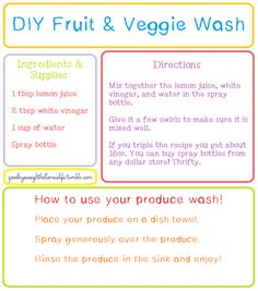 DIY | Tumblr  Fruit and Vegetable Wash ~!~