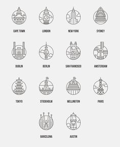 City Icons for Offscreen Magazine by Adam Whitcroft. adamwhitcroft.com/offscreen