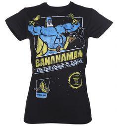 Ladies Bananaman Arcade Game T-Shirt bespoke design used by Truffleshuffle.
