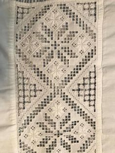 Hardanger Embroidery, Hand Embroidery, Drawn Thread, Paper Snowflakes, Aprons, Sweden, Bohemian Rug, Embellishments, Textiles
