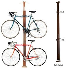 A High End Wooden Pressure Mount Bike Rack For Apartments