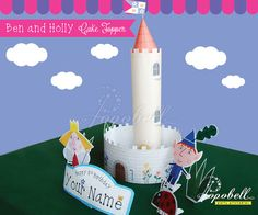 Ben and Holly Cake Topper for Ben and Holly's Little Kingdom Birthday Party. Personalized DIY Printables for Ben & Holly Cake Centerpiece. Ben And Holly Cake, Ben E Holly, Party Kit, Diy Party, 3rd Birthday, Birthday Parties, Birthday Ideas, Cake Centerpieces, Alice