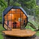 Architect Manuel Villa designed a backyard habitable polyhedron in    via ArchDaily