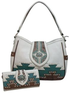 038c156f8ac8 Montana West Concealed Carry Purse Wallet Set Aztec Gun Bag Concealment  Beige