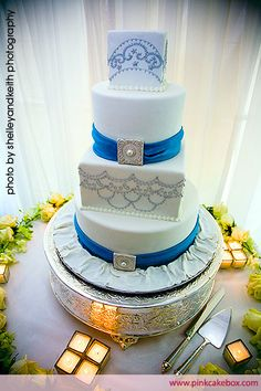 4 Tier Wedding Cake by Pink Cake Box
