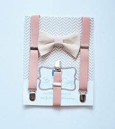 Hey, I found this really awesome Etsy listing at https://www.etsy.com/listing/216778463/blush-suspenders-and-nude-bow-tie-for